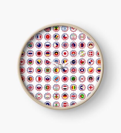 We Are America Multinational Patriot Flag Collective 2.0 Clock