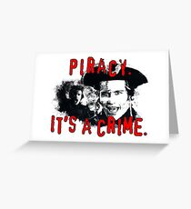 Piracy Greeting Card