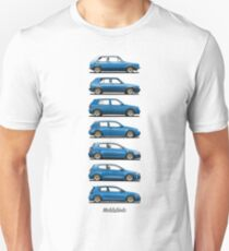 Volkswagen Golf 1-7 GTi (blue) T-Shirt