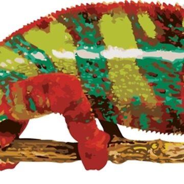 Striped Chameleon by Imaginals