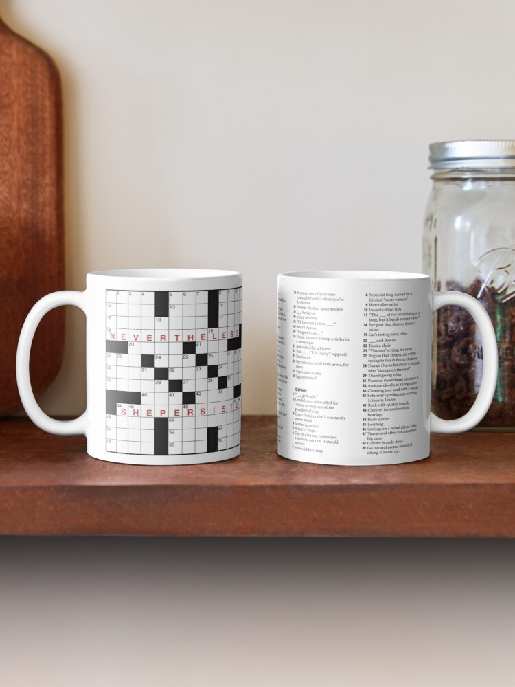 Alternate view of NEVERTHELESS, SHE PERSISTED puzzle by Francis Heaney Mug