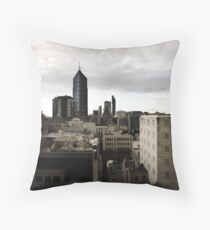 Melbourne buildings Throw Pillow