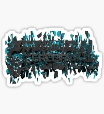 Cerebral cracked text art Sticker