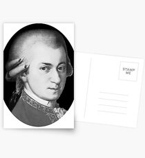 The genius Wolfgang Amadeus Mozart Postcards