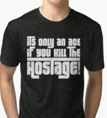 Hostage Ace #1 - White Gritty  [Roufxis] Tri-blend T-Shirt