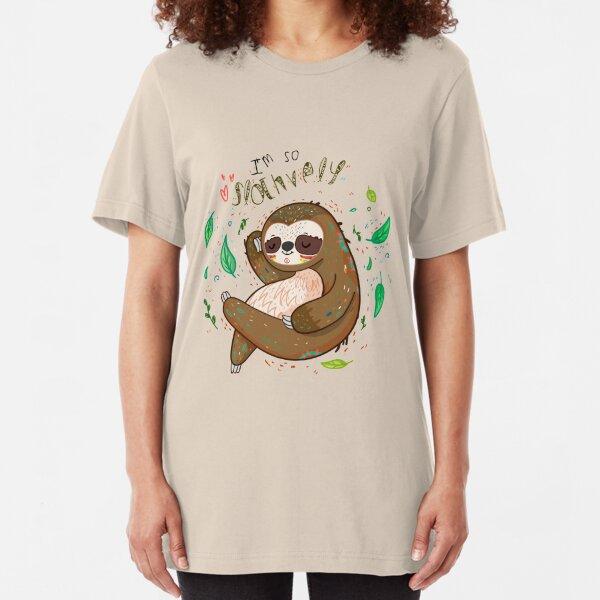 I am so slothvely Slim Fit T-Shirt
