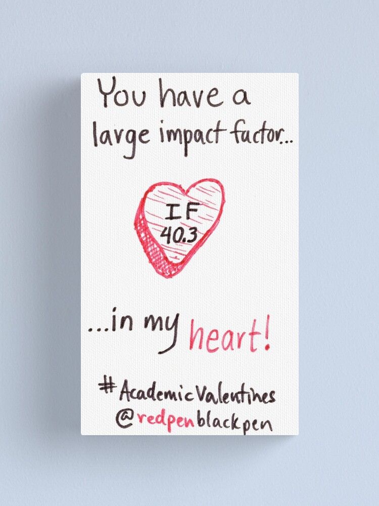 Alternate view of Academic Valentines: Large Impact Factor Canvas Print