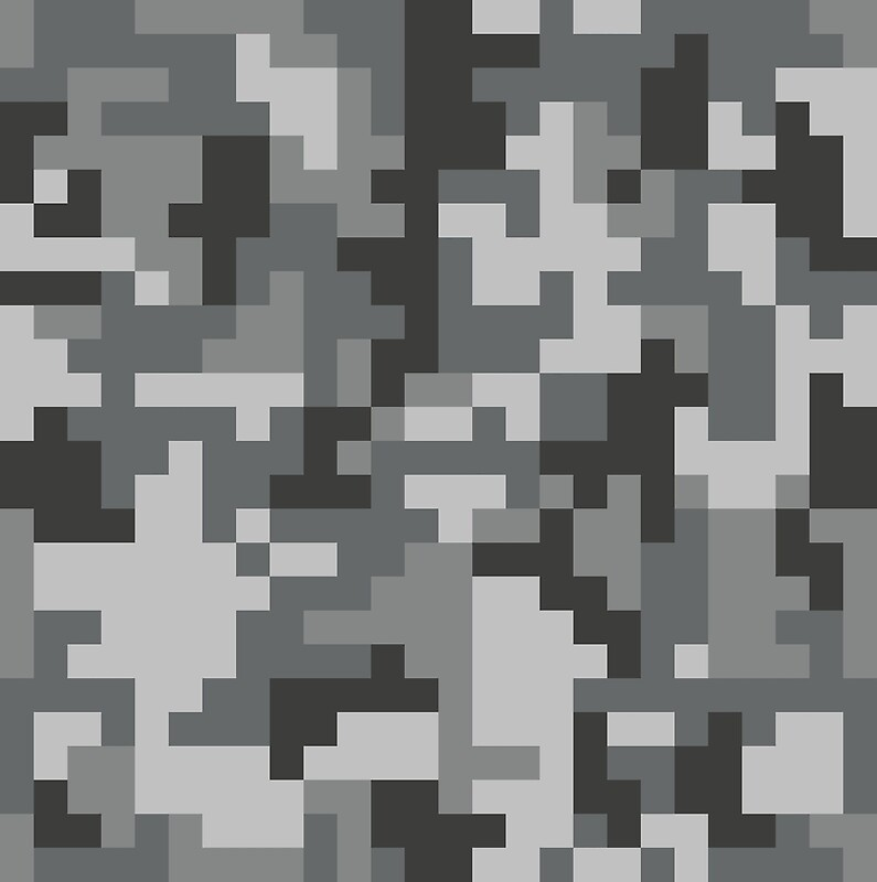 Quot Urban Grey Pixel Camo Pattern Quot By Productpics Redbubble