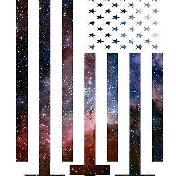 Anti-Cristo Galaxy Universe Bandera americana Alternative Modern Design de Cudge82