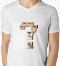 Dinosaurs! Mens V-Neck T-Shirt