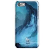 Wolf in a snow landscape iPhone Case/Skin