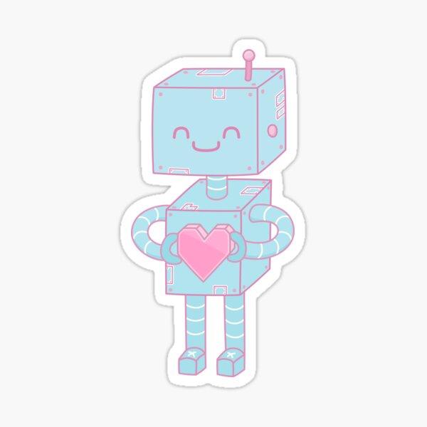 Valentine's Day Robot Sticker