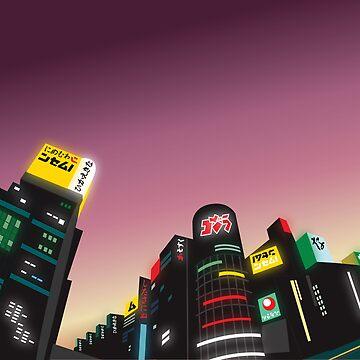 Tokyo at Dusk by danielmarshall