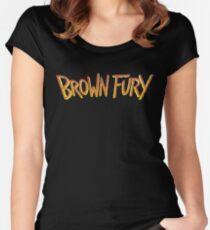 Brown Fury - Logo (Light) Women's Fitted Scoop T-Shirt