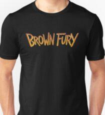Brown Fury - Logo (Light) Slim Fit T-Shirt