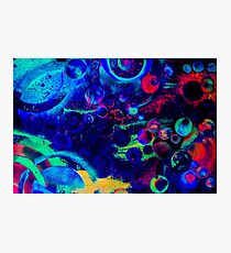 Beautiful Colorful Abstract art with Planets  Photographic Print
