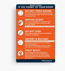 What to do if ICE IMMIGRATION POLICE come knocking Canvas Print