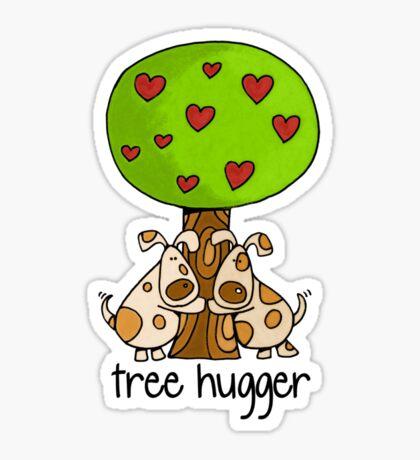 Tree huggers Sticker