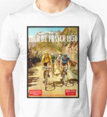 LE TOUR DE FRANCE; Vintage Bicycle Racing Print Unisex T-Shirt