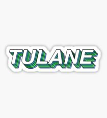 Tulane Retro Layers Sticker