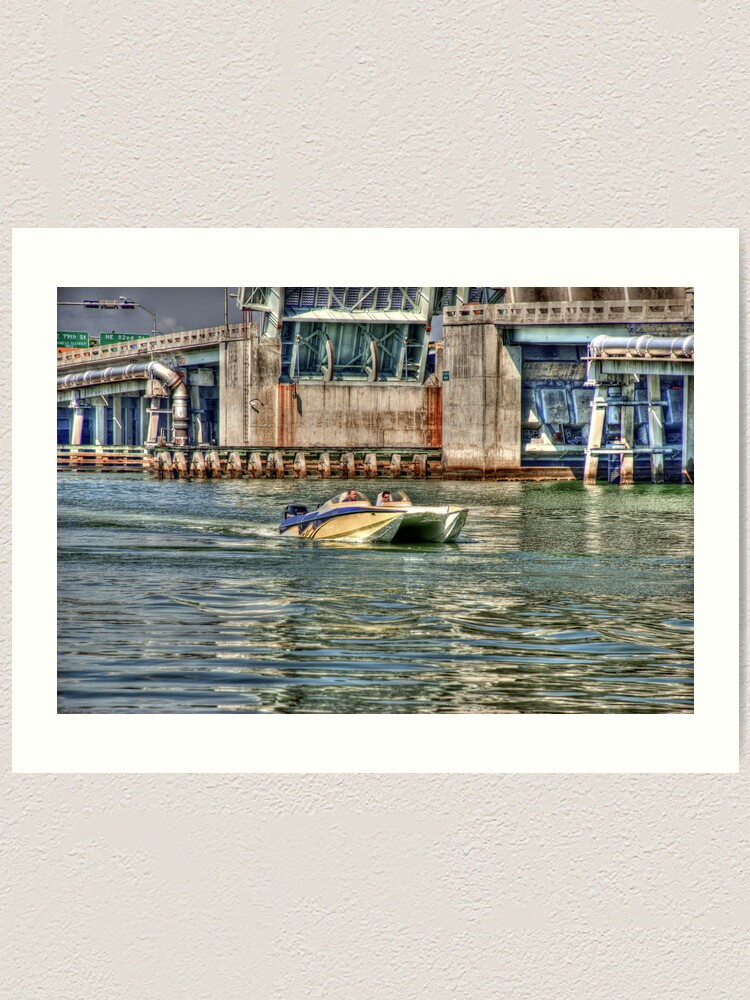 Alternate view of Speedboat  Approaches Art Print