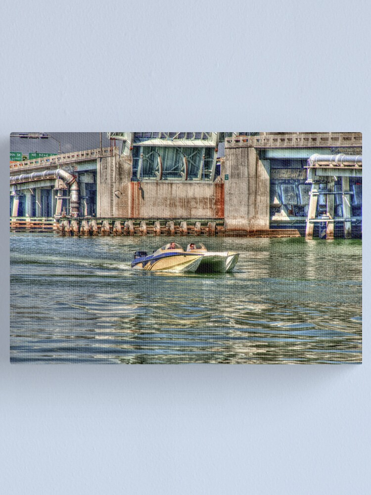 Alternate view of Speedboat  Approaches Canvas Print