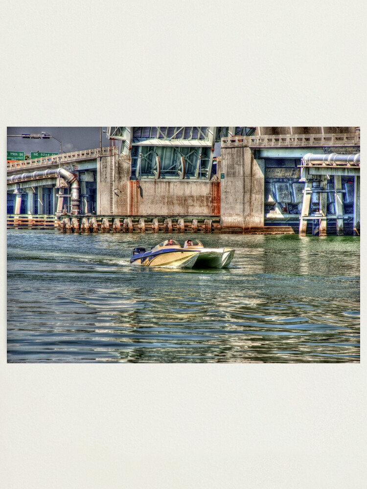 Alternate view of Speedboat  Approaches Photographic Print