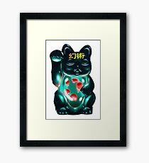 Maneki Neko Witchcraft Framed Print