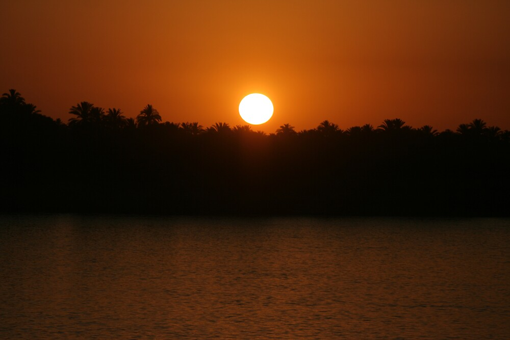 Sunset Over The Nile by Herman Greffrath