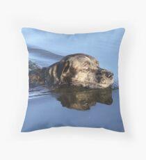 Lexy swimming Throw Pillow