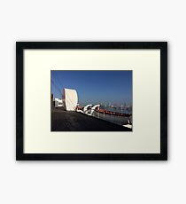 Early Morning on Queen Mary's Sports Deck Framed Print