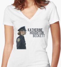 Kate Beckett Women's Fitted V-Neck T-Shirt