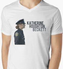 Kate Beckett Men's V-Neck T-Shirt