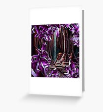 PURPLE CRYSTAL CAVERN pixelart Greeting Card