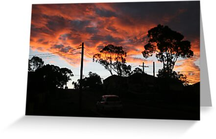 Our street, towards evening by Ozcloggie