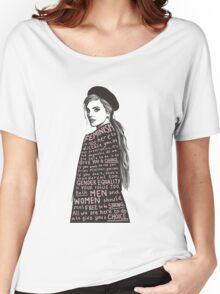 Emma Watson Feminism Graphic Women's Relaxed Fit T-Shirt
