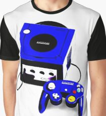 Electric Blue Game Cube Graphic T-Shirt