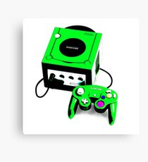 Electric Green Game Cube Canvas Print