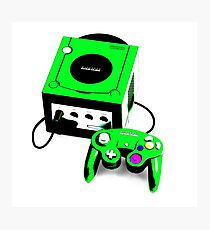 Electric Green Game Cube Photographic Print