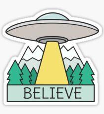 Cool UFO Sci Fi  Sticker