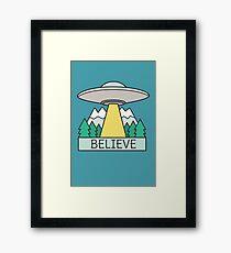 Cool UFO Sci Fi  Framed Print