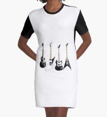 Guitar Cartoon Rock T-shirt Graphic T-Shirt Dress