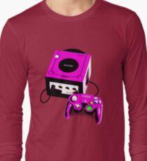 Magenta Game Cube Long Sleeve T-Shirt