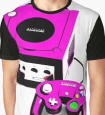 Magenta Game Cube Graphic T-Shirt