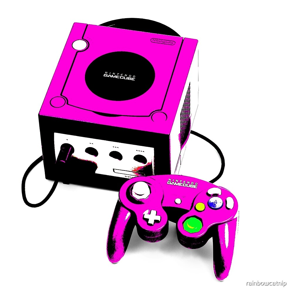 Magenta Game Cube by rainbowcatnip