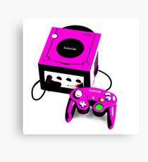 Magenta Game Cube Canvas Print