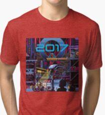 2017 CITY pixelart Tri-blend T-Shirt