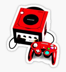 Red Game Cube Sticker
