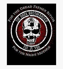 Dark Brotherhood Vintage Design Photographic Print