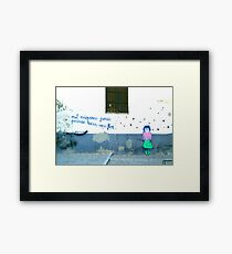 Spanish Street Art Framed Print
